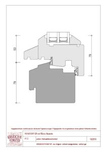 thumbnail of IV-90 Fenstertür unten Holzwetterschenkel