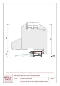 thumbnail of IV-90 Terrassentür unten Aluminiumschwelle (beiseitig bedienbar)