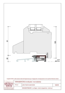 thumbnail of IV-90 Terrassentür unten Aluminiumschwelle (innen bedienbar)